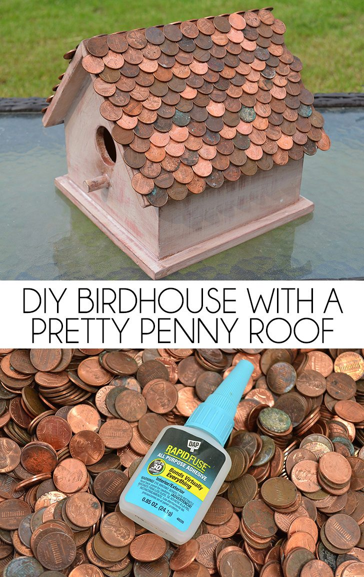 medium resolution of a penny roof is the pretty copper complement to a diy birdhouse
