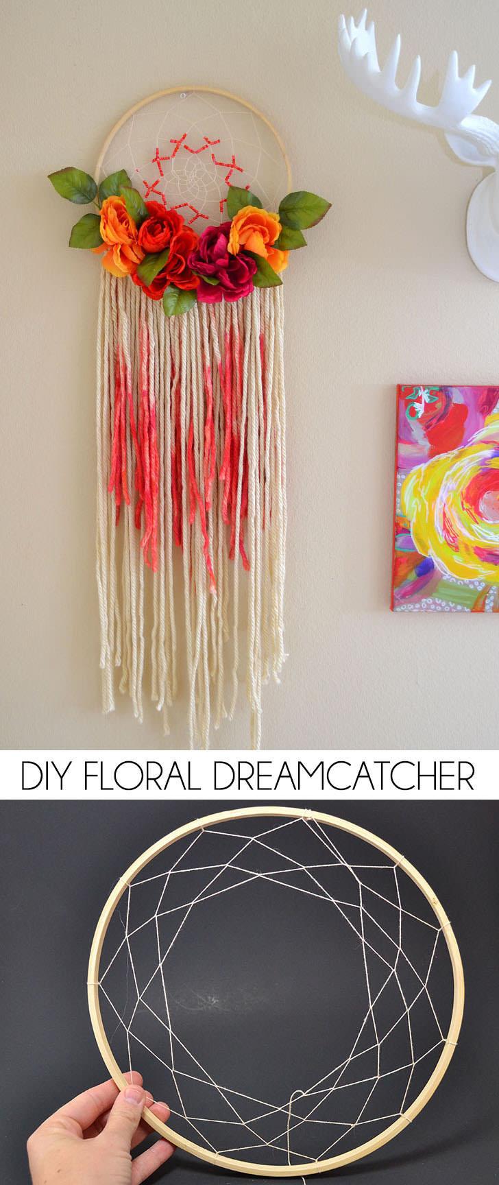 Bohemian Floral Dreamcatcher  Dream a Little Bigger