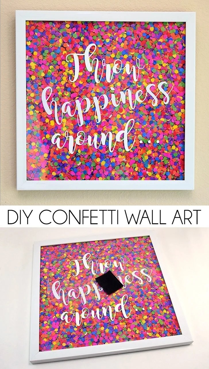 DIY Confetti Wall Art Dream A Little Bigger