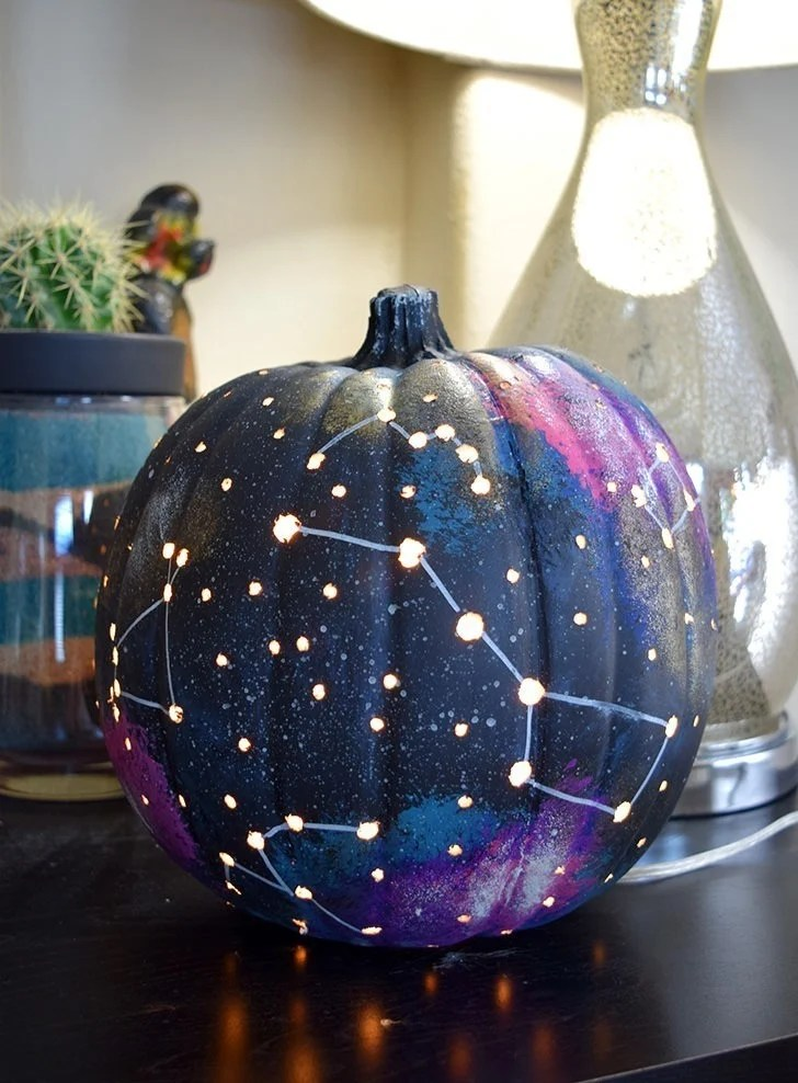 Galaxy Pumpkin An Out Of This World Jack O Lantern