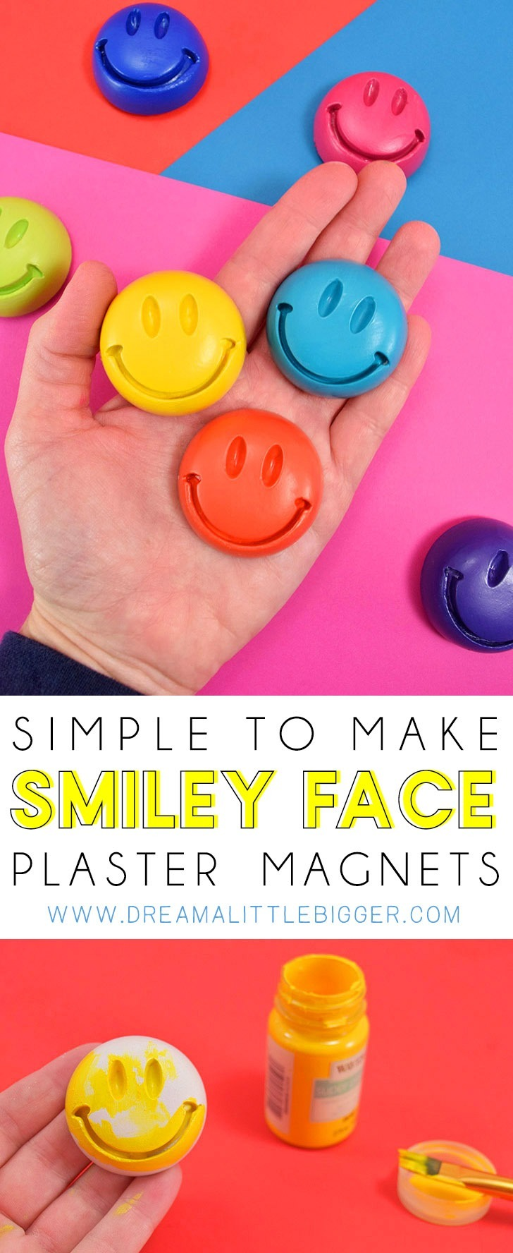 Creative Toys Activities Make Your Own Crazy Emoji Faces Mould And Paint Fridge Magnet Craft Activity Set Toys Games Creative Toys Activities