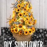 Diy Sunflower Christmas Tree Dream A Little Bigger