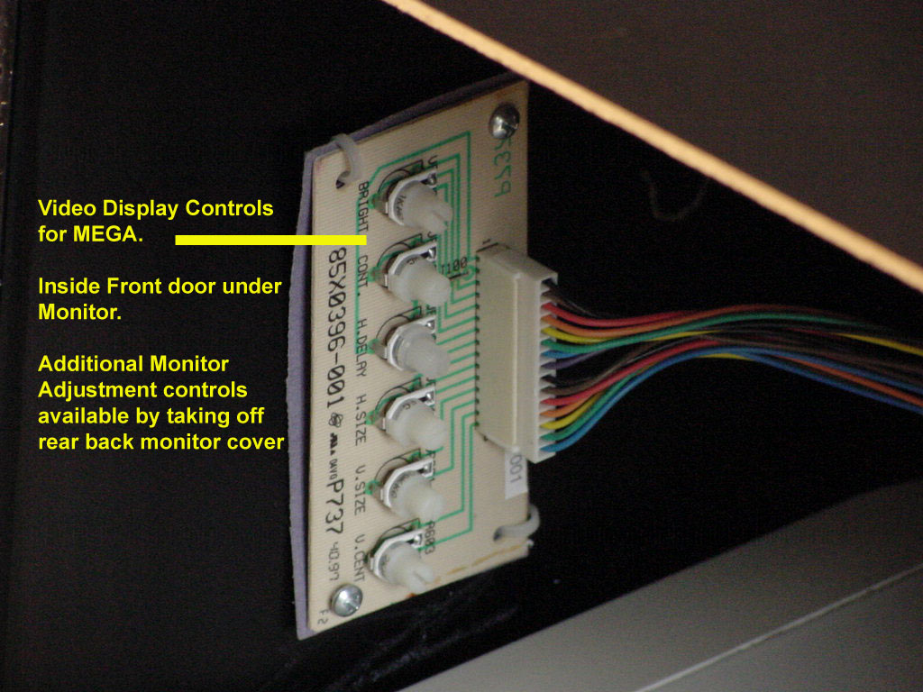hight resolution of here is the monitor with the cover taken off showing the screw locations