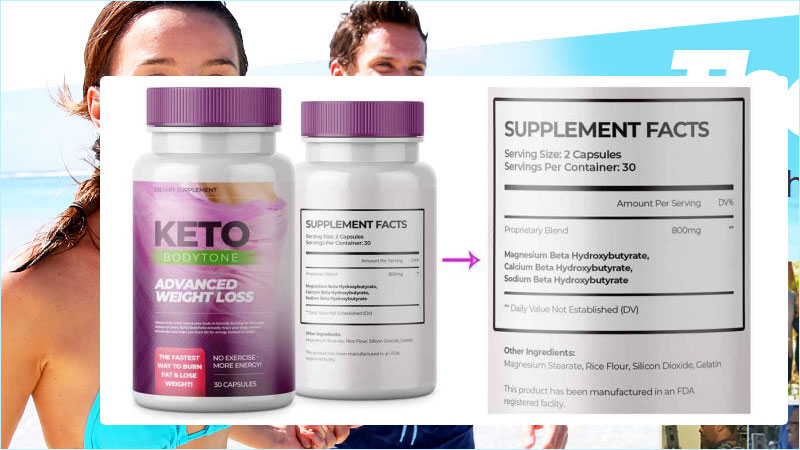 Ingredients in Keto Bodytone supplements for weight loss