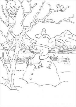 صور تلوين شتاء 2014 ، صور رسومات فصل الشتاء للأطفال جاهزة