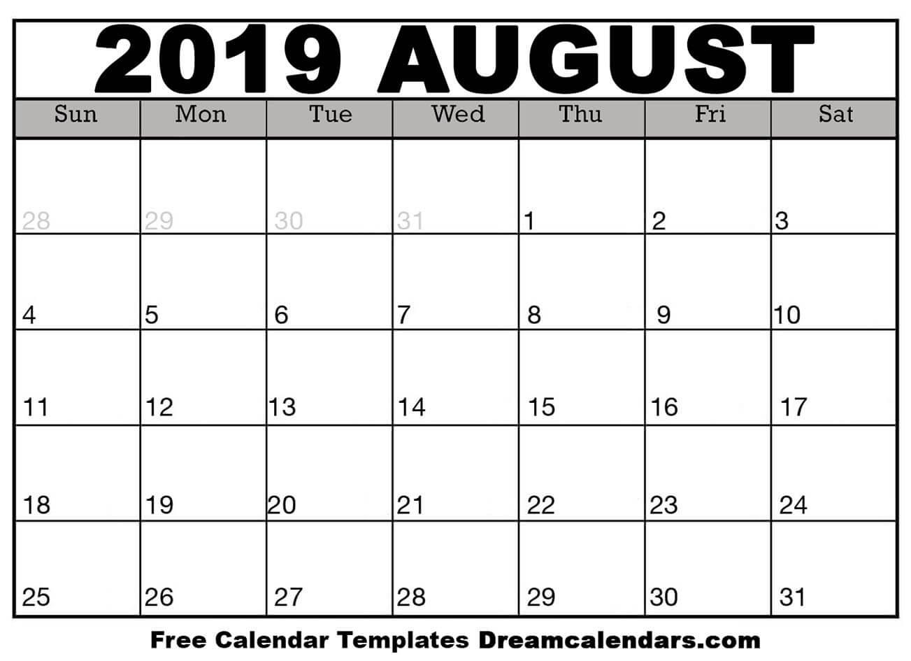 Printable Blank August Calendar On We Heart It