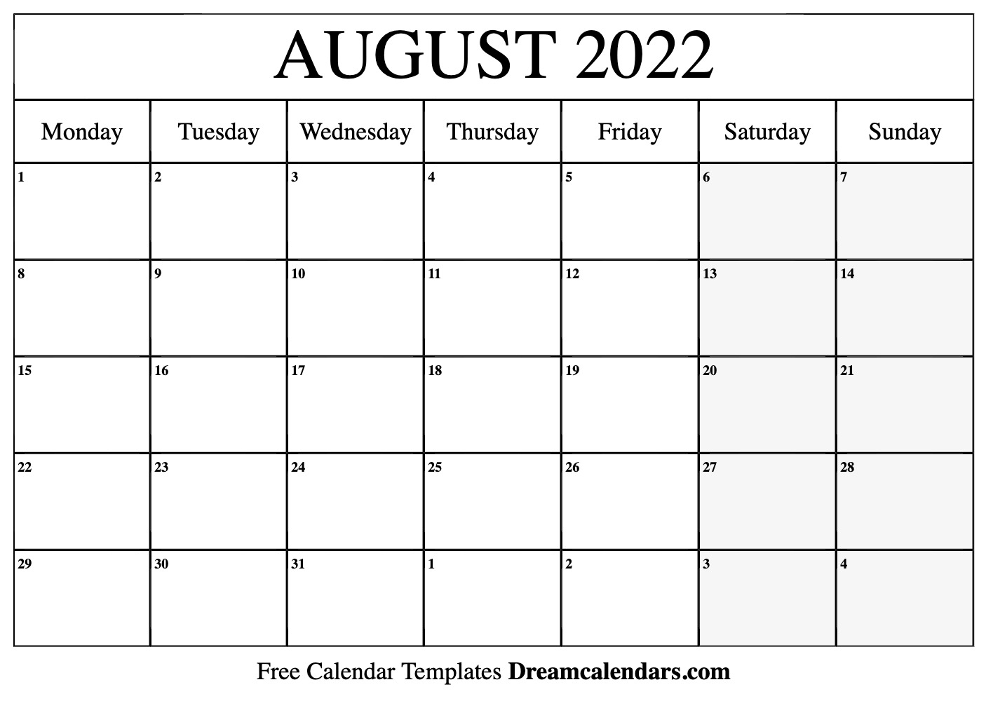 Sure, digital calendars are convenient — we can take them everyw. August 2022 calendar | free blank printable templates