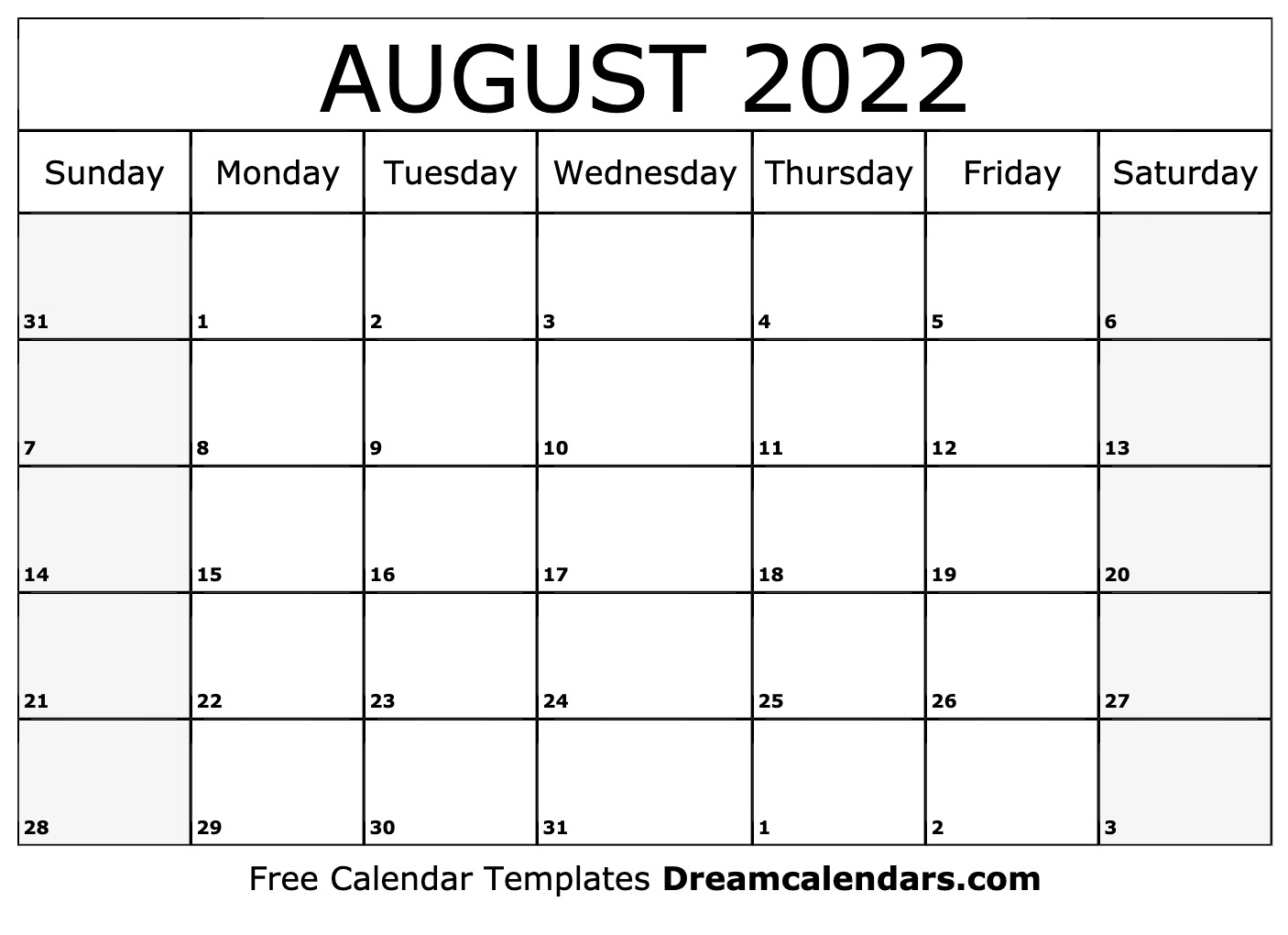 These include monthly calendars and even complete 2021 planners. August 2022 calendar   free blank printable templates