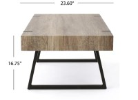 Grey Faux Wood Coffee Table   Dream Captured Event Design