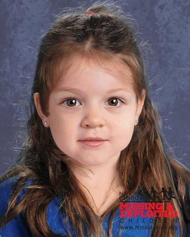 "A new image of ""baby doe,"" a young girl found along the rocky shoreline of Boston Harbor on June 25, 2015, has been released by the Massachusetts State Police. The new image shows the toddler with pierced ears."
