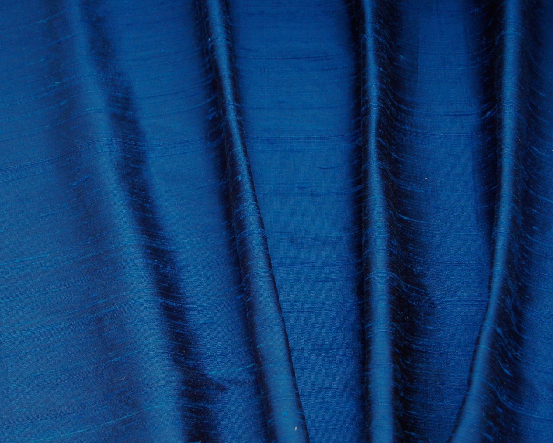 Blue Dupioni Silk Custom Drapes Curtains And Shades