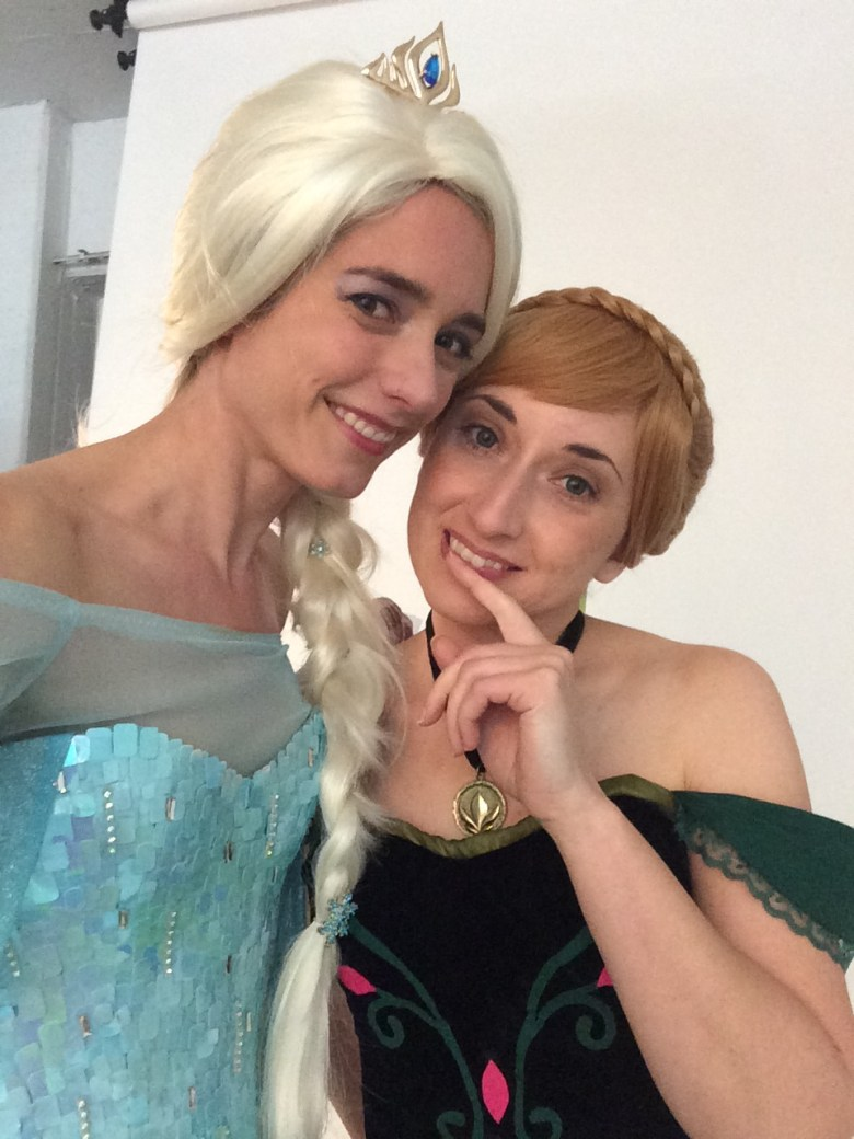 Happy New Year from Anna and Elsa!