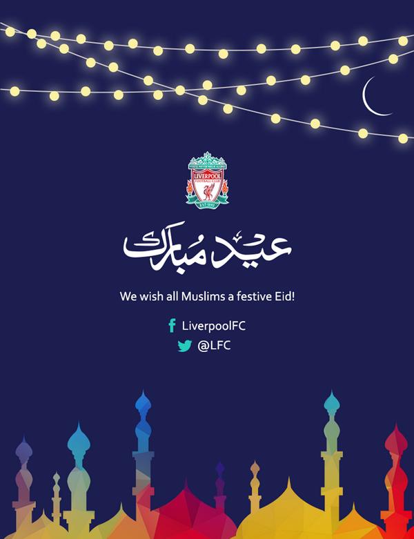 Liverpool Ucapkan Selamat Idul Fitri Untuk Penggemar Muslim Mereka