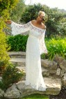 Shoulder Boho Maxi Lace Dress Bohemian Chic