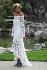 Bohemian High Low Wedding Dress