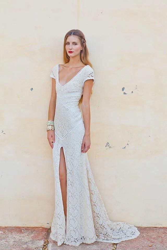 Alexandra Lace Bohemian Wedding Dress  Dreamers and Lovers