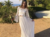 Boho Lace Top & Silk Chiffon Skirt | | Dreamers and Lovers