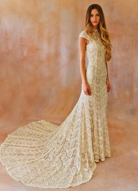 Ivory Backless Lace Wedding Dresses | www.imgkid.com - The ...