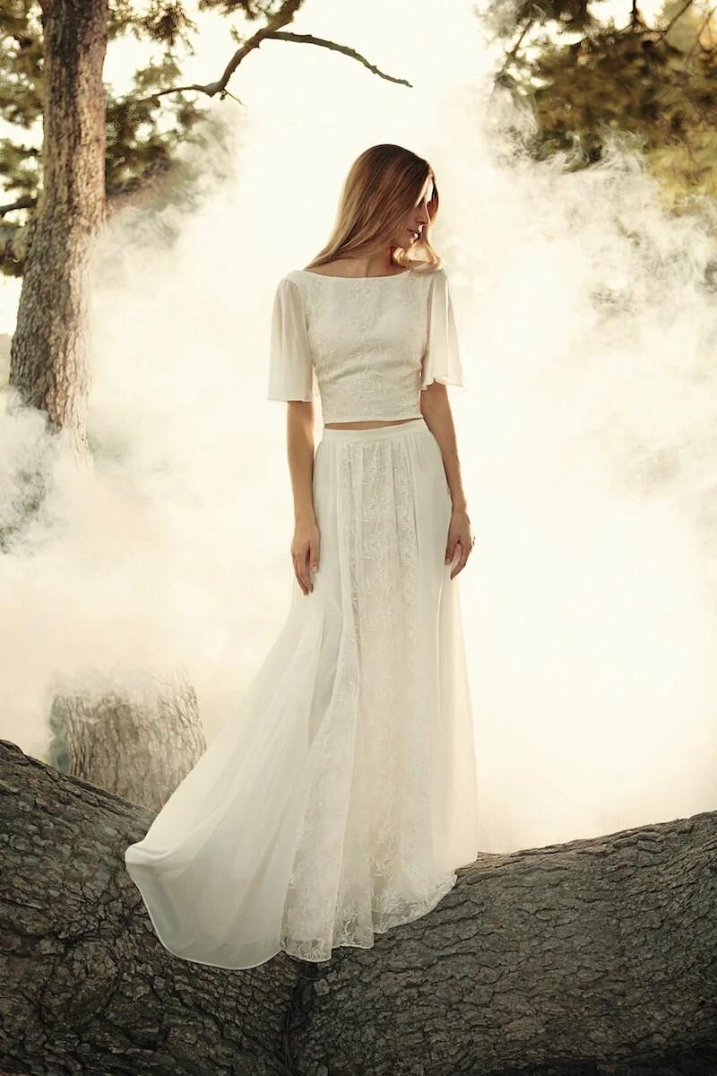 Camelia 2Piece Bohemian Wedding Dress  Dreamers and Lovers