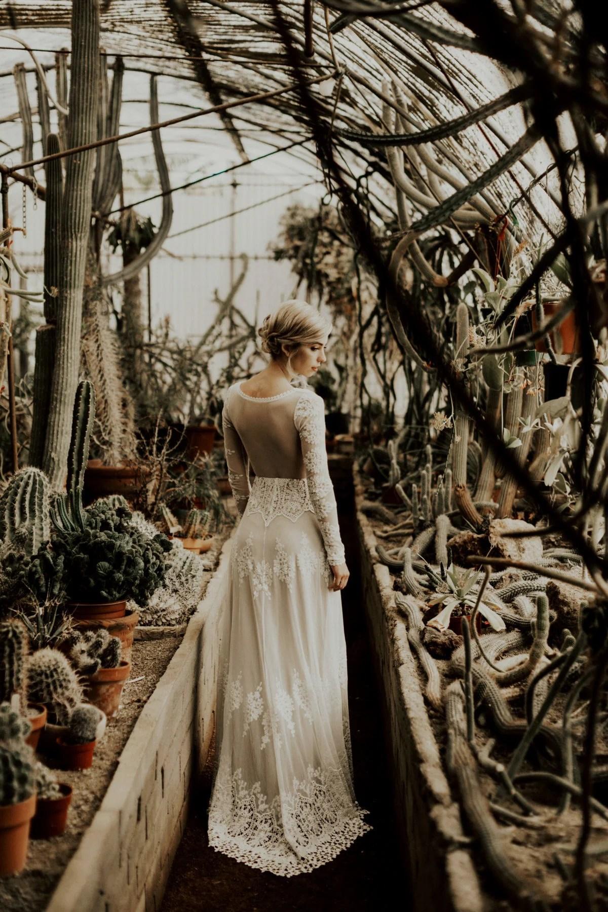 Sleeved Lace Wedding Dress