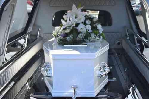 Coffin in a hearse - in memoriam