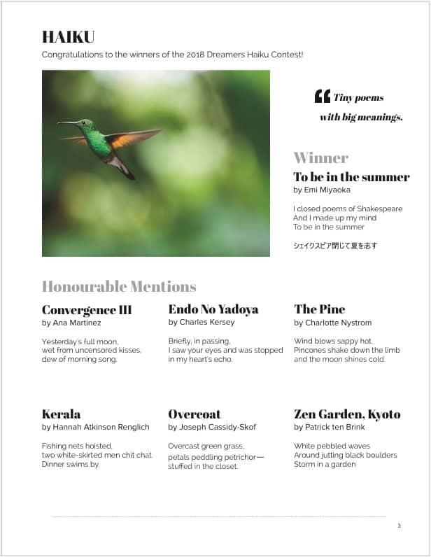 Haiku Page Magazine Issue 1
