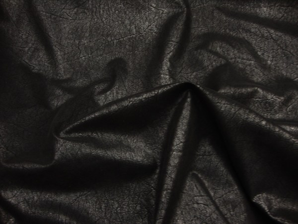 Black Distressed Faux Vinyl Upholstery