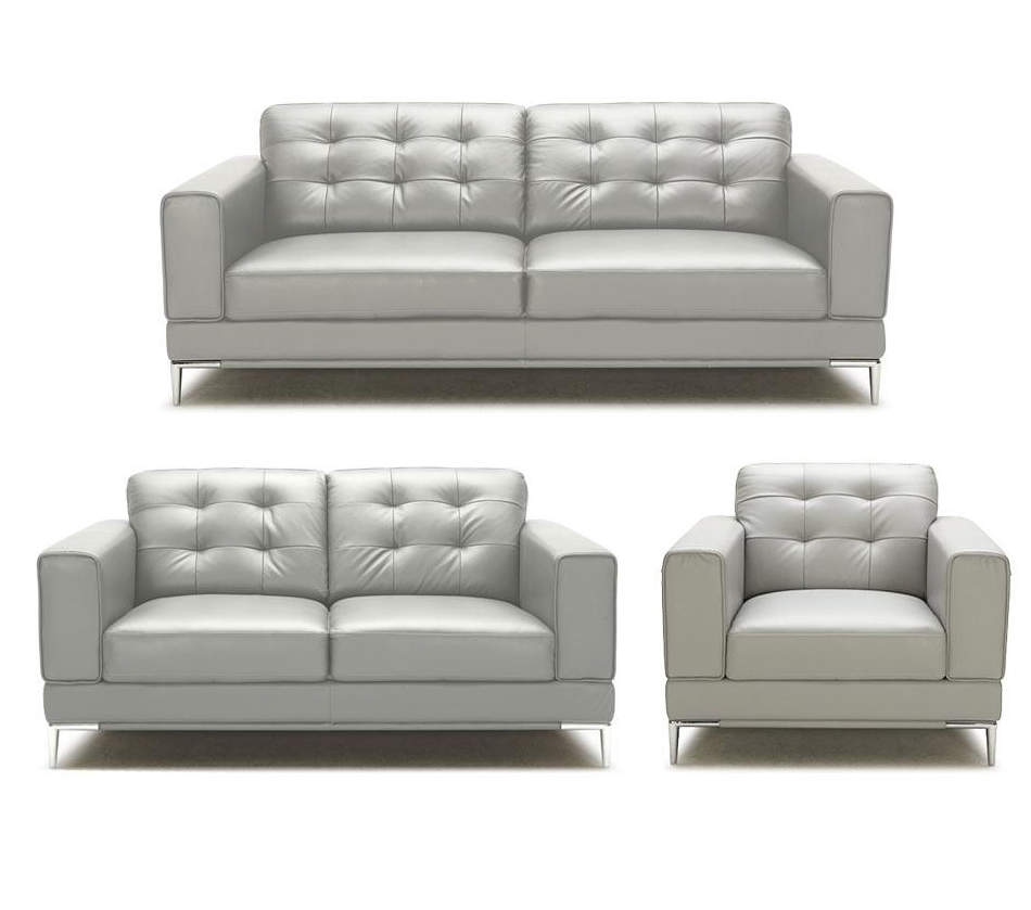 All scs leather sofas are available as 4, 3 and 2 seater sofas and have matching footstools. DreamFurniture.com - Larkspur - Modern White Bonded ...
