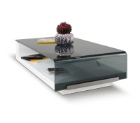 DreamFurniture.com - 676A1 - Modern Glass Coffee Table