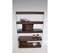 DreamFurniture.com - Modern Tobacco Floating Bookcase