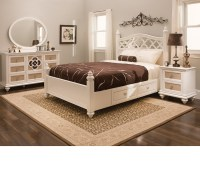 DreamFurniture.com - Paris Youth Panel Bedroom Set Pearl ...