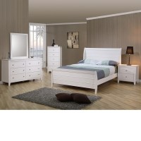 DreamFurniture.com - Sandy Beach Youth Sleigh Bedroom Set ...