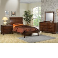 DreamFurniture.com - Phoenix Collection Bedroom Set Walnut ...