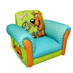 Kids Upholstered Rocking Chair Vintage Accent Dreamfurniture.com - Scooby Doo Deluxe