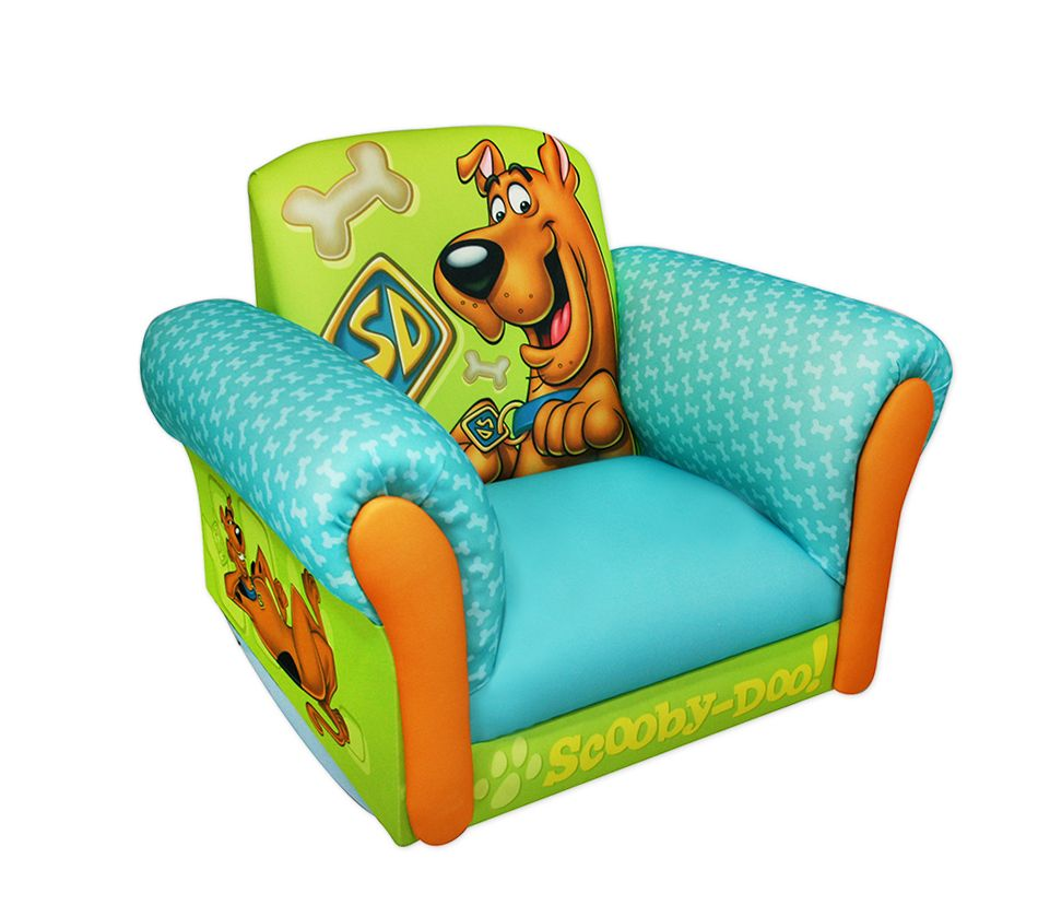 kids upholstered rocking chair covers in dubai dreamfurniture.com - scooby doo deluxe