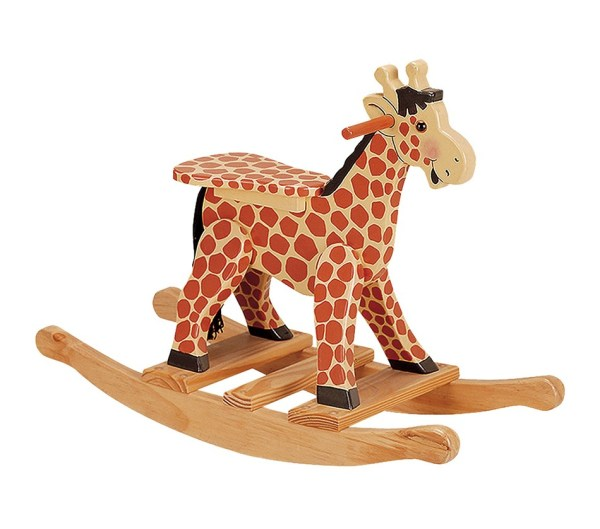 Wooden Giraffe Rocking Horse
