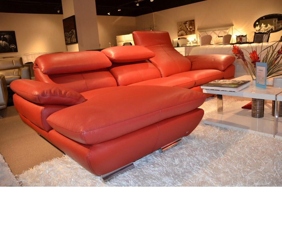 575 italian top grain leather sectional sofa