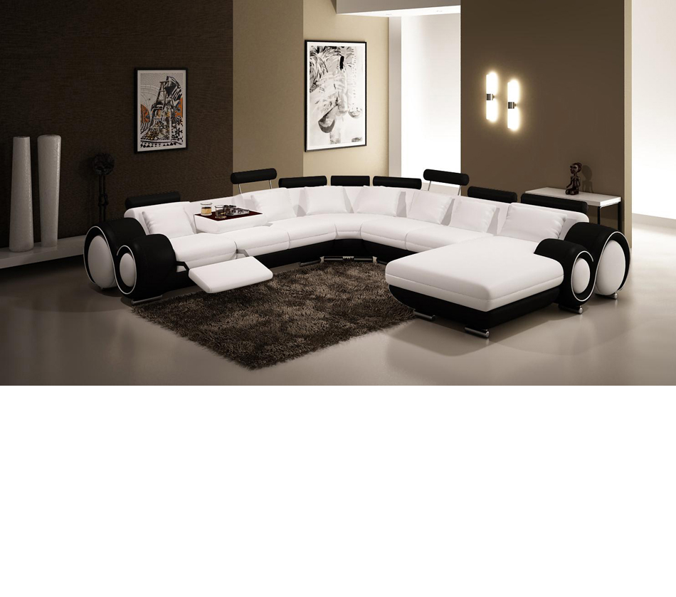 vgev4084 1 black and white leather sectional sofa