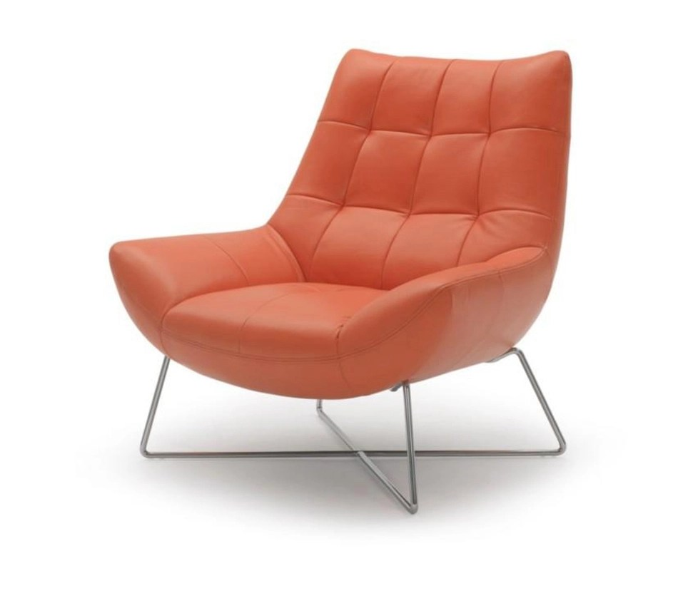 DreamFurniturecom  Divani Casa A728  Modern Orange