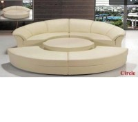 DreamFurniture.com - Divani Casa Circle - Modern Leather ...