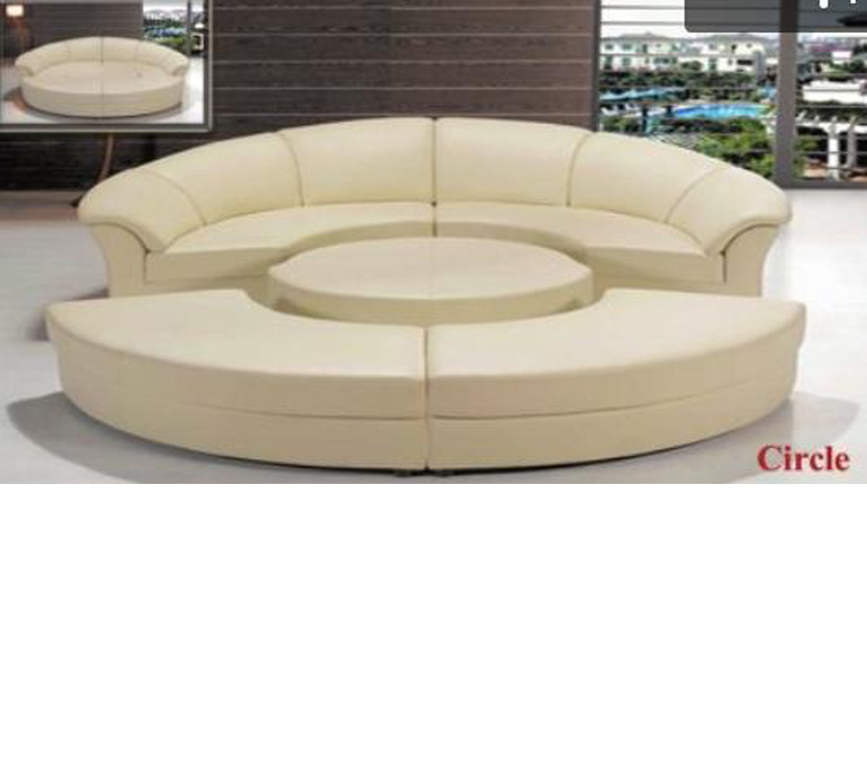circle sectional sofa bed bags for storage dreamfurniture.com - divani casa modern leather ...