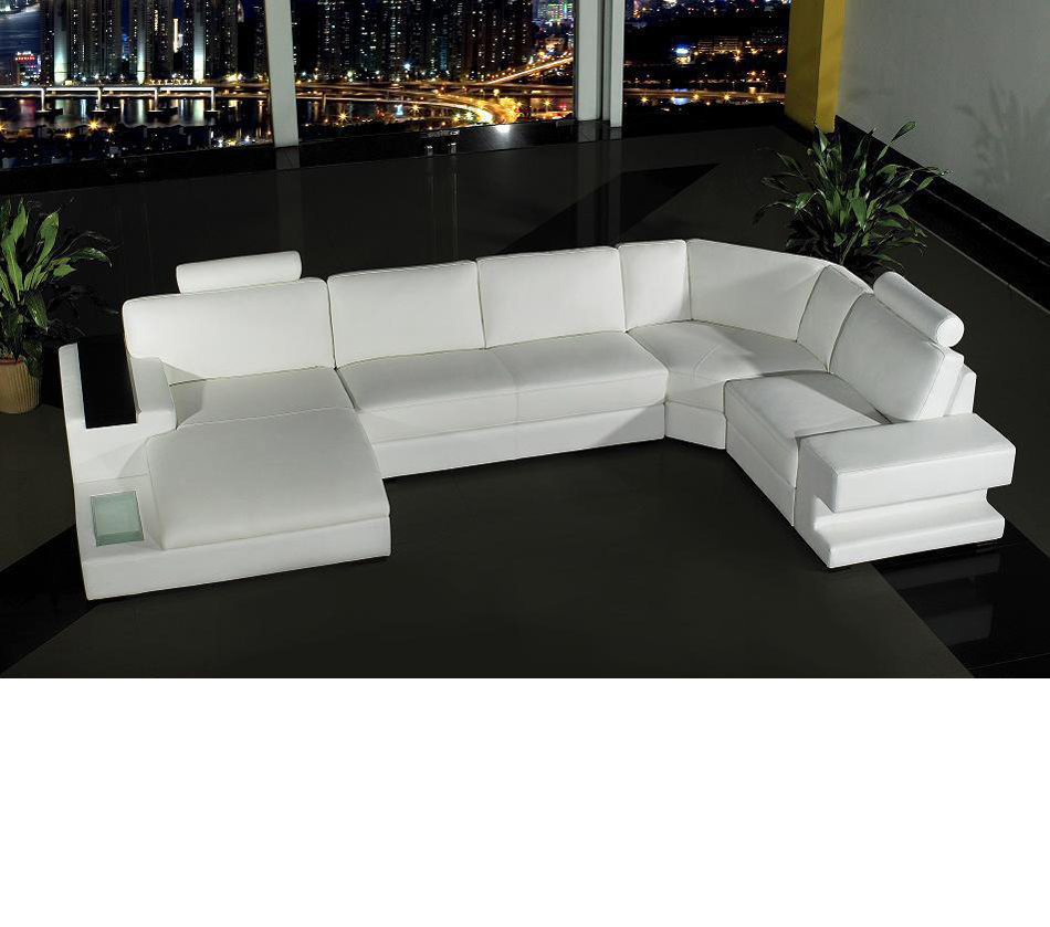 white bonded leather sectional sofa set with light compact 3 seater dreamfurniture com divani casa orion modern