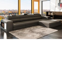 Modern Bonded Leather Sectional Sofa With Recliners Cost To Reupholster Bed Dreamfurniture Com Divani Casa Polaris Mini Contemporary