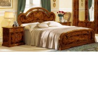 DreamFurniture.com - Milady Italian King Bed with 2 ...