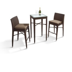 3 Piece Table Set For Living Room White Dreamfurniture.com - Ht25 Patio Bar And Chairs