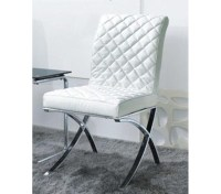 DreamFurniture.com - C1012 - Modern White Eco-Leather ...