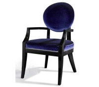 DreamFurniture.com - Armani Xavira Blue Fabric Desk Chair