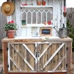Oversize White Washed Potting Bench Dream Garden Woodworks