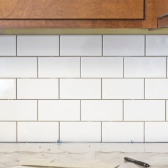 Wall Tile For Kitchen Mount Faucets A White Subway Backsplash Story - Dream Green Diy