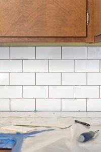 A White Subway Tile Backsplash Story - Dream Green DIY